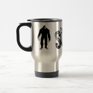 I'd Rather Be Squatchin - Grunge Text Only Travel Mug