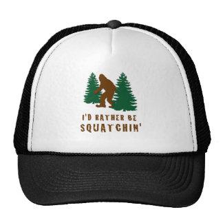I'd Rather Be Squatchin' Trucker Hat