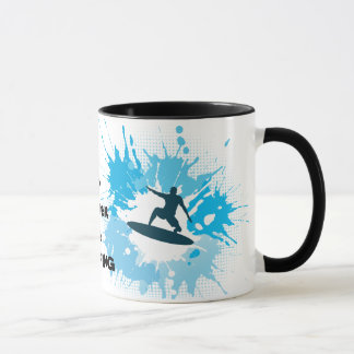 I'd rather be Surfing Design Coffee Mug Cup