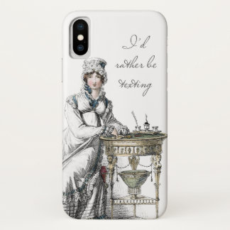 I'd Rather be Texting Jane Austen Regency Fashion iPhone X Case