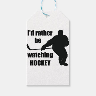 I'd rather be watching hockey gift tags