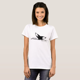I'd Rather Be Whale Watching women's tee shirt
