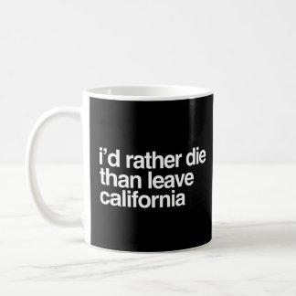 I'd Rather Die Than Leave  California Coffee Mug