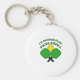 Id Rather Play Pickleball Basic Round Button Keychain