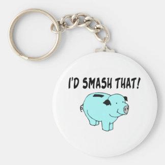 I'd Smash That Piggy Basic Round Button Keychain