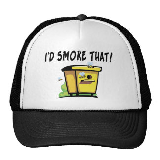 I'd Smoke That Bee Hive Trucker Hat
