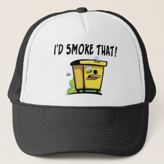 I'd Smoke That Bee Hive Trucker Hat