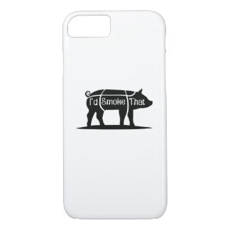 I'd Smoke That Pig Pork Bbq Barbecue Funny iPhone 8/7 Case