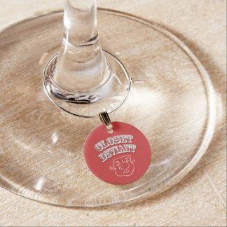 ID Tag 'Closet Deviant' Wine Charm