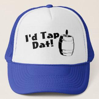Id Tap Dat Beer Keg Trucker Hat