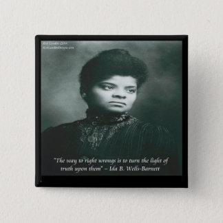 Ida B Wells & Truth Quote 2 Inch Square Button