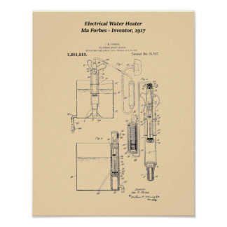 Ida Forbes Electrical Water Heater Poster