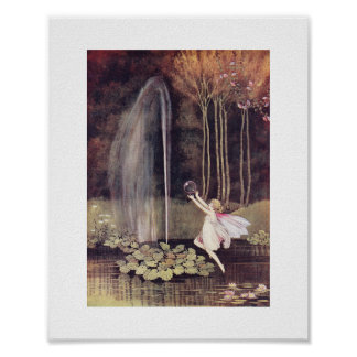 Ida Rentoul Print - Fountain