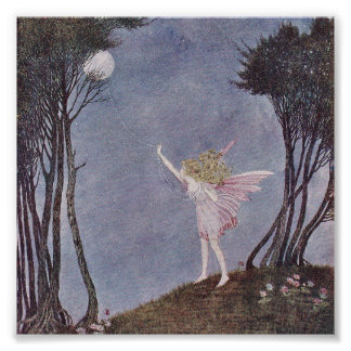Ida Rentoul Print - Mooncatcher