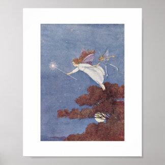 Ida Rentoul Print - Night Flight