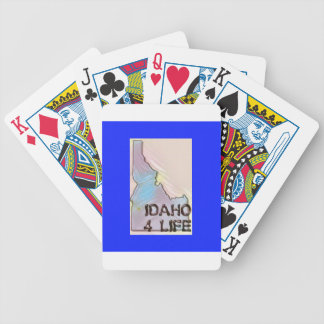 """Idaho 4 Life"" State Map Pride Design Bicycle Playing Cards"