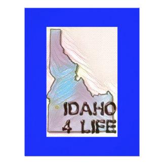 """Idaho 4 Life"" State Map Pride Design Custom Letterhead"