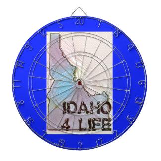 """Idaho 4 Life"" State Map Pride Design Dartboard"