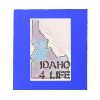 """Idaho 4 Life"" State Map Pride Design Notepad"