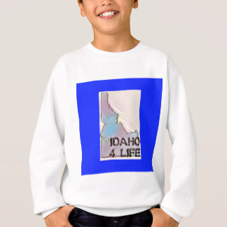 """Idaho 4 Life"" State Map Pride Design Sweatshirt"