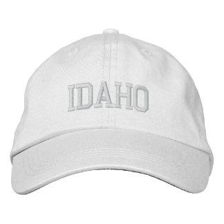 Idaho Embroidered Basic Adjustable Cap White Embroidered Baseball Caps
