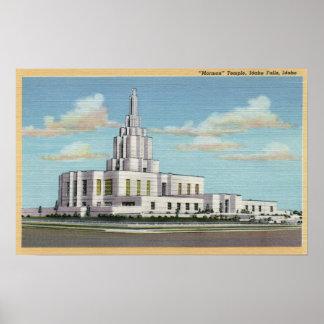 Idaho Falls, ID - Mormon Temple View Poster