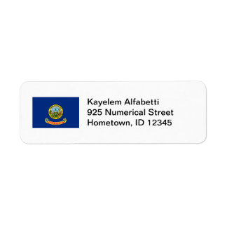 Idaho Flag Return Address Label
