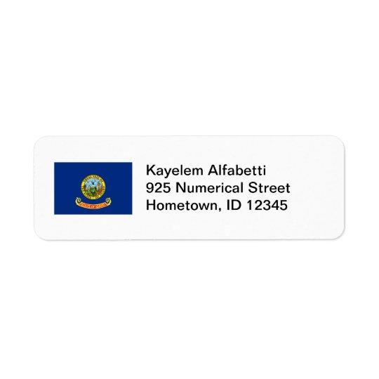 Idaho Flag Return Address Label
