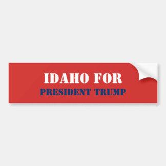 IDAHO FOR PRESIDENT TRUMP BUMPER STICKER