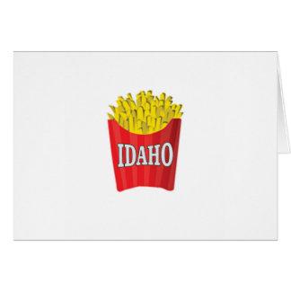 idaho french fries card