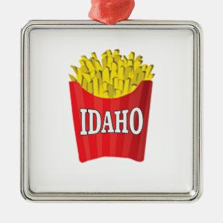 idaho french fries metal ornament