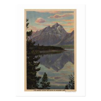 Idaho - Grand Teton Reflection on Jackson Lake Postcard