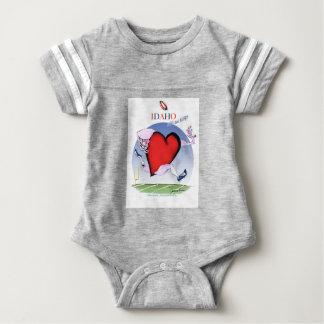 Idaho Head and Heart, tony fernandes Baby Bodysuit