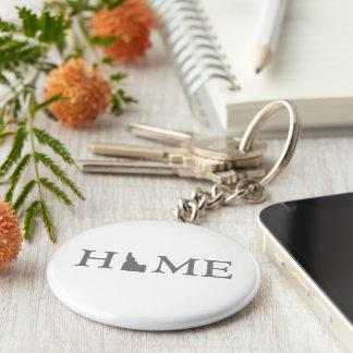 Idaho Home State Word Art Keychain