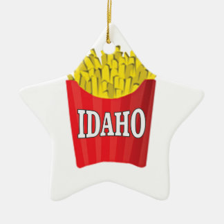 Idaho junk food ceramic ornament