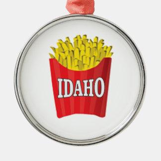 Idaho junk food metal ornament