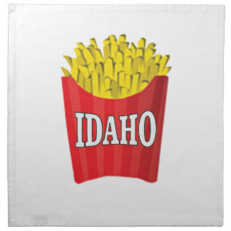 Idaho junk food napkin
