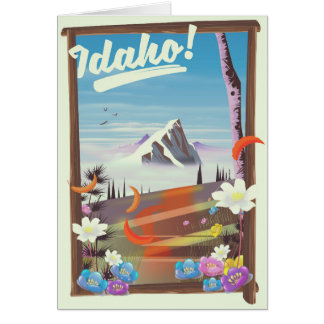 Idaho! landscape travel poster card