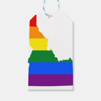 Idaho LGBT Flag Map Gift Tags