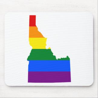 Idaho LGBT Flag Map Mouse Pad