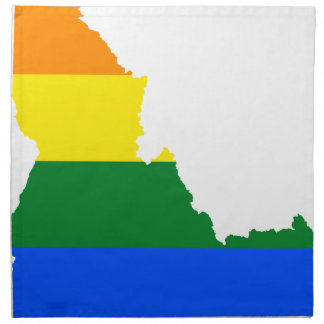 Idaho LGBT Flag Map Napkin
