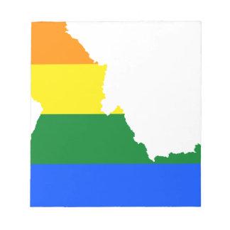 Idaho LGBT Flag Map Notepad