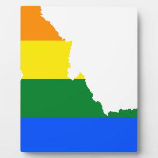 Idaho LGBT Flag Map Plaque