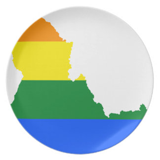 Idaho LGBT Flag Map Plate