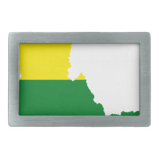 Idaho LGBT Flag Map Rectangular Belt Buckle