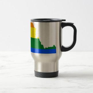 Idaho LGBT Flag Map Travel Mug