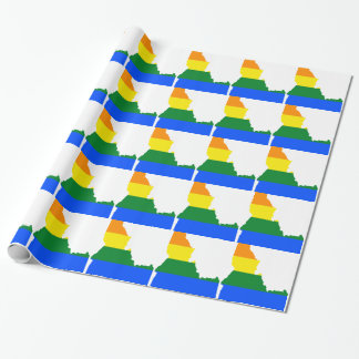 Idaho LGBT Flag Map Wrapping Paper