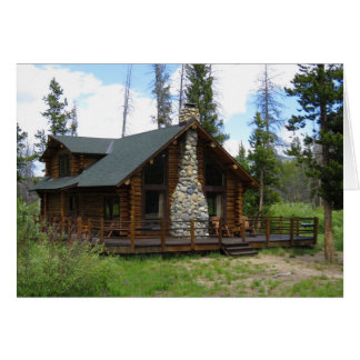 Idaho Log Cabin Card