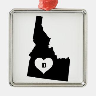 Idaho Love Metal Ornament