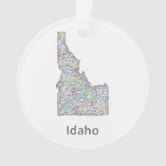 Idaho map ornament